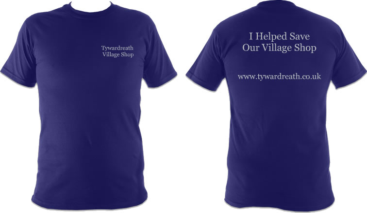 I helped save our village shop – t-shirts for sale