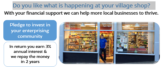 With your support we can help more local businesses to thrive