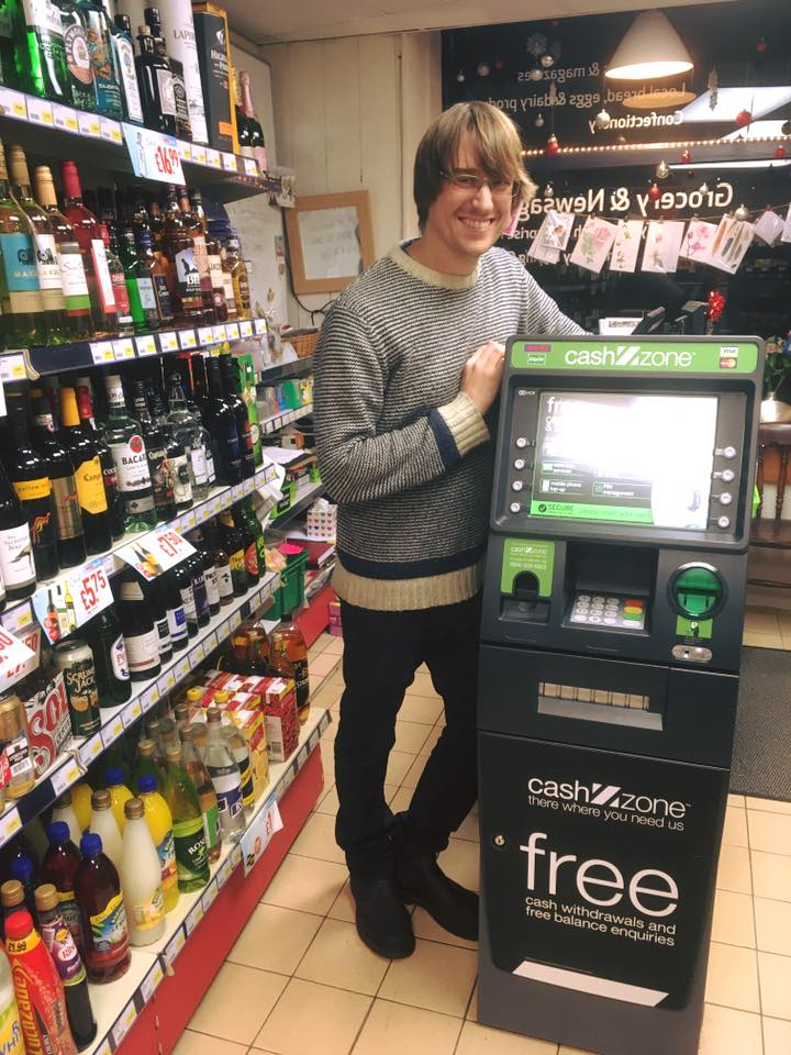 Our cash machine has been used over 4,000 times in 11 weeks.