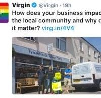 virgin tweets about the shop